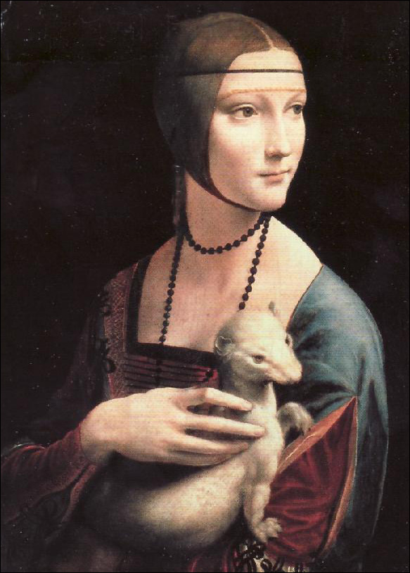 Leonardo da Vinci (Lady with Ermine)