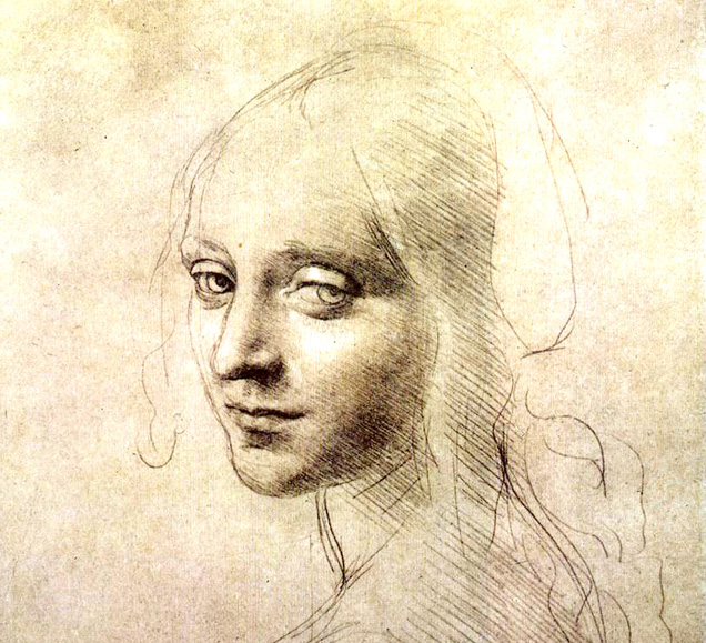 Leonardo da Vinci - Portrait of a girl
