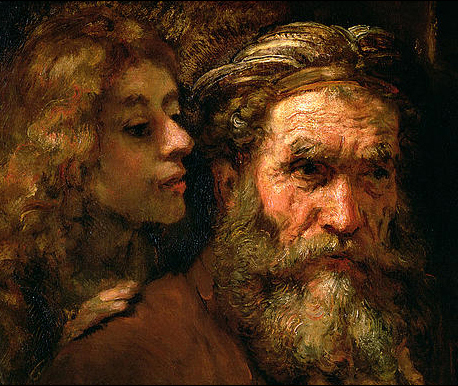 Rembrandt (St Matthew and the Angel) Detail